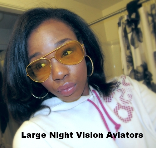 Retro City Sunglasses: Large Night Vision Aviators