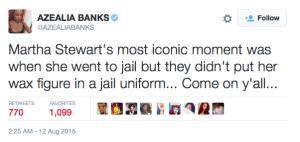 Azealia Banks responds to Nicki Minajs wax figure